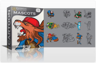 Mascots vector pack 1 Sport, Mascots & Cartoons tiger