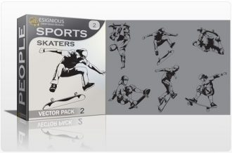 Sports skaters vector pack People vector
