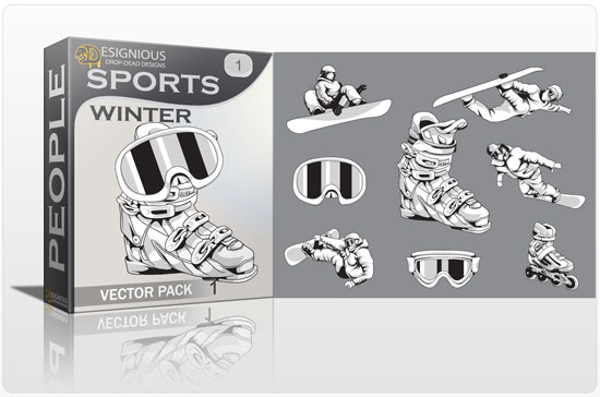 Sports winter vector pack 1 products sports winter