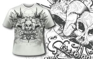 T-shirt design 210 T-shirt designs and templates [tag]