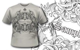 T-shirt design 218 T-shirt designs and templates WM