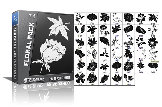 Floral brushes pack 11 Floral brushes [tag]