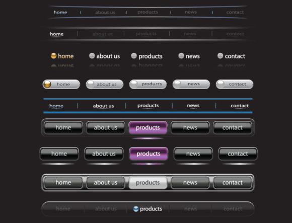 Web navigation vector pack 7 Web and soft [tag]