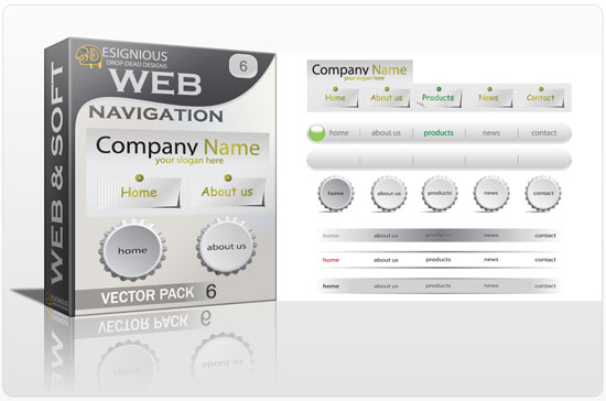 Web navigation vector pack 6 Web and soft [tag]
