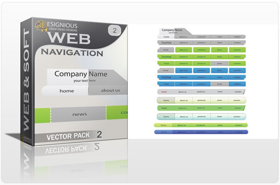 Web navigation vector pack 2 Web and soft [tag]