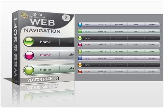 Web navigation vector pack 3 Web and soft [tag]