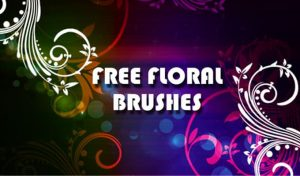 Free floral photoshop brushes Freebies floral