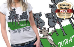 T-shirt design plus 45 T-shirt designs and templates [tag]