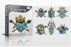 Crests vector pack Heraldry [tag]