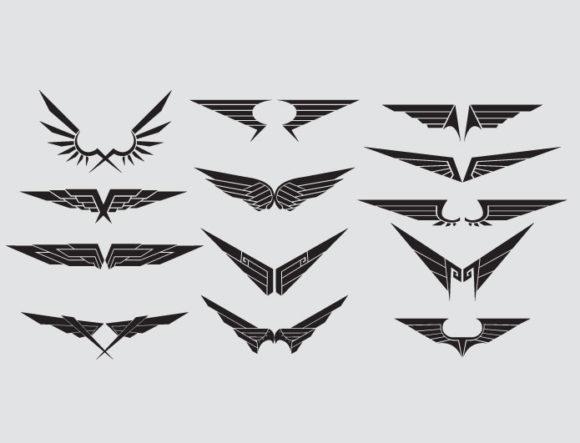 Wings vector pack 15 Wings wings