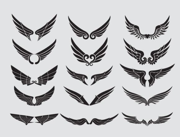 Wings vector pack 14 Wings wings