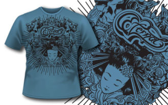 T-shirt design 245 T-shirt Designs and Templates vector