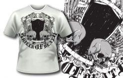 T-shirt design 254 T-shirt designs and templates vector