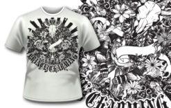 T-shirt design 260 T-shirt designs and templates vector
