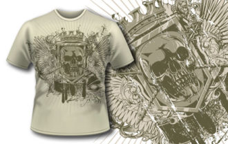 T-shirt design 242 T-shirt Designs and Templates vector