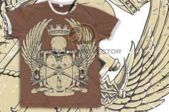 Free crest t-shirt design Freebies [tag]
