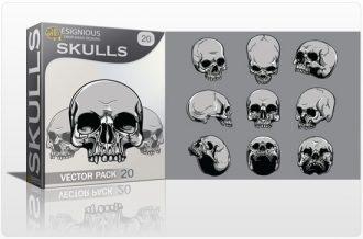 Skulls vector pack 20 Skulls skull