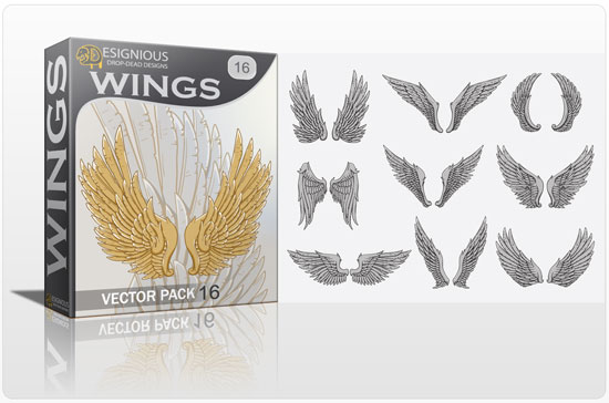 Wings vector pack 16 Wings wings