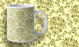 Free damask vector pattern Freebies vector
