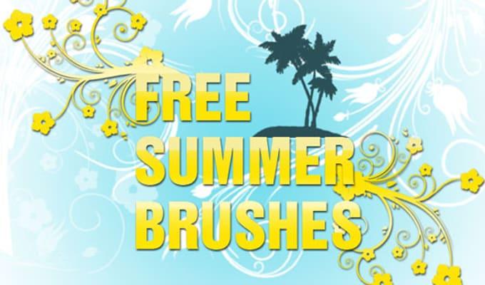 Free summer photoshop brushes Freebies summer