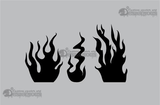 Flames vector pack Nature symbol