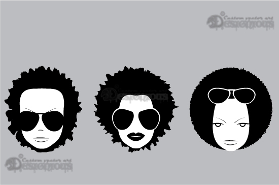 Funky faces vector pack 3