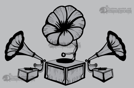 Music vector pack products 1 vector old gramophone