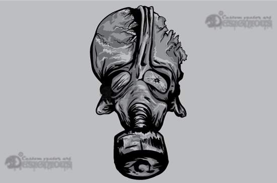 Skulls vector pack 1 products 1 vector zombie with gas mask