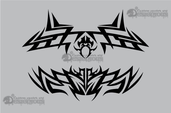 Tribal vector pack 10 products 10 tribal clip art shapes