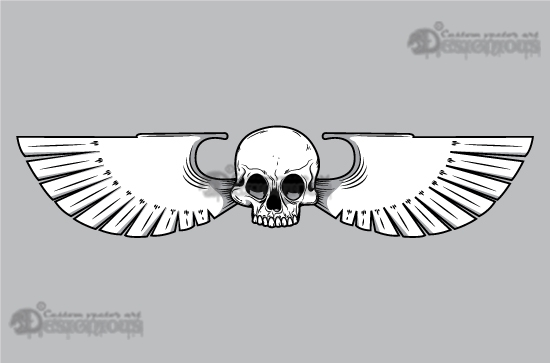 Skulls vector pack 11 products 11 vector human skull with wings