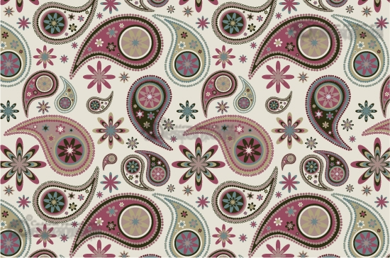 Seamless patterns vector pack 13 paisley Vector Patterns pattern