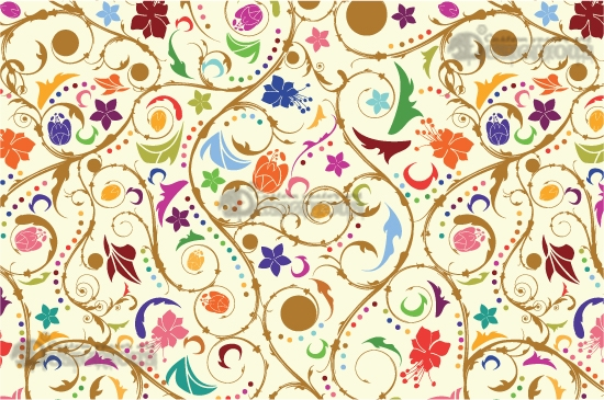 Seamless patterns vector pack 14 products 14 abstract leaves vector patterns