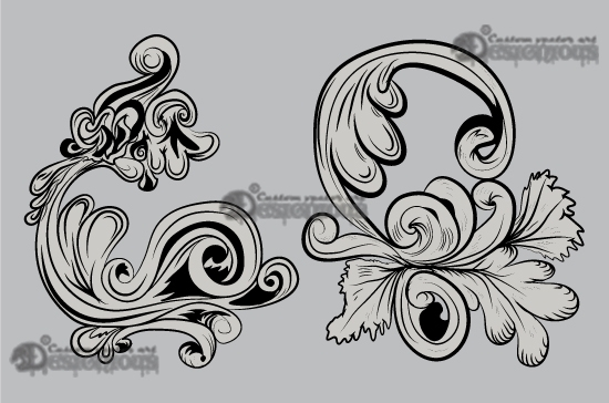 Floral vector pack 15 products 15 baroque floral vector