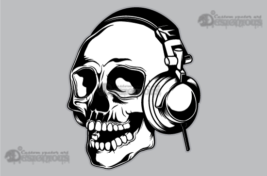 Skull vector pack 15 products 15 vector man skull with headphones