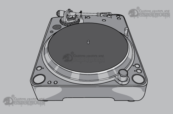 Music vector pack 2 products 2 vector turntable