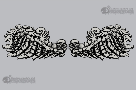 Wings vector pack 3 products 3 baroque vector wings