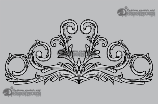 Floral vector pack 32 products 32 symetrical floral scroll