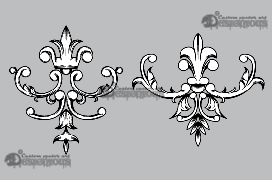 Floral vector pack 33 products 33 vector cartouche floral elements