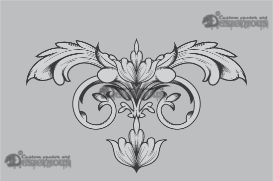 Floral vector pack 35 products 35 vector engraved cartouche scroll