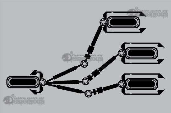 Tech shapes vector pack 4 products 4 clip art robotic arms