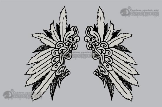 Wings vector pack 4 Wings vector