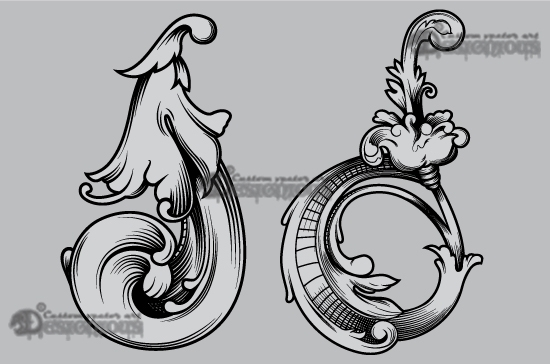 Floral vector pack 48 products 48 vector engraved floral