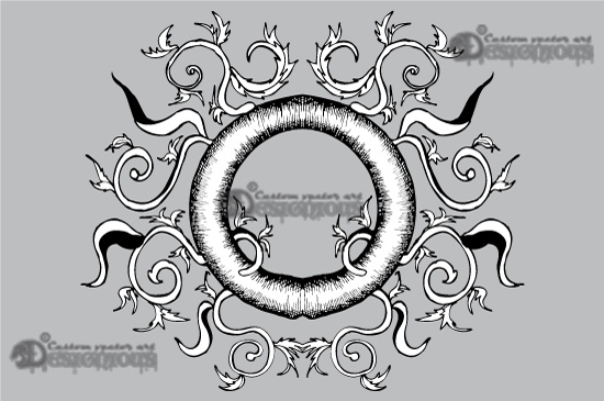 Floral vector pack 5 products 5 baroque floral frame