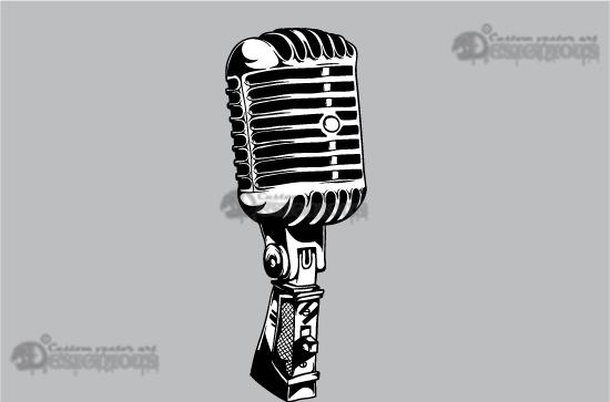 Music vector pack 5 Music mic