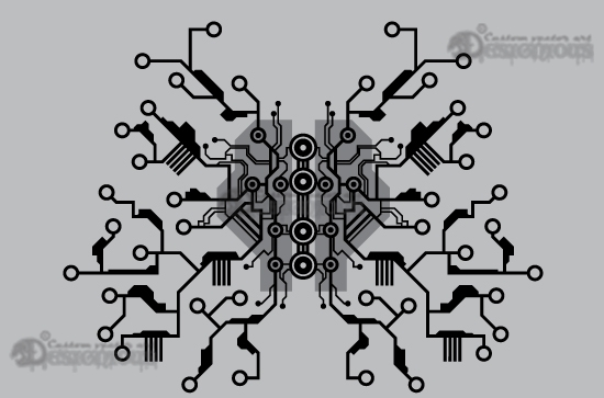 Tech shapes vector pack 6 products 6 vector integrated circuit