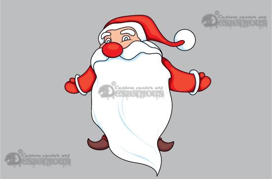 Christmas vector pack 7 santa products 7 cartoon santa vector