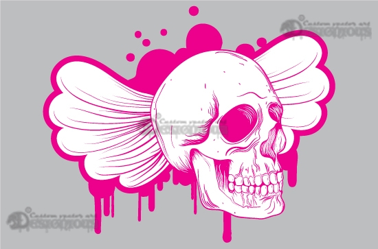Skulls vector pack 9 products 9 emo vector skull