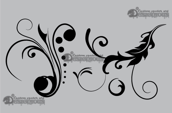 Floral vector pack 9 products 9 vector beautiful floral symbols