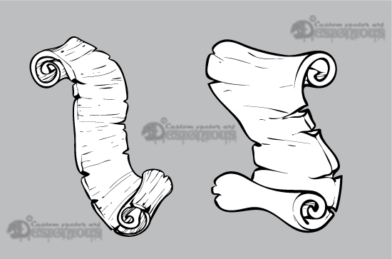 Scrolls vector pack 9 products 9 vector papyrus scrolls