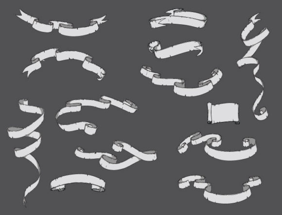 Scrolls vector pack 11 Scrolls scroll